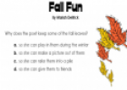 Fall Fun | Recurso educativo 12858