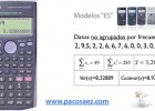 3.Calculadoras CASIO: Estadística descriptiva. | Recurso educativo 657456