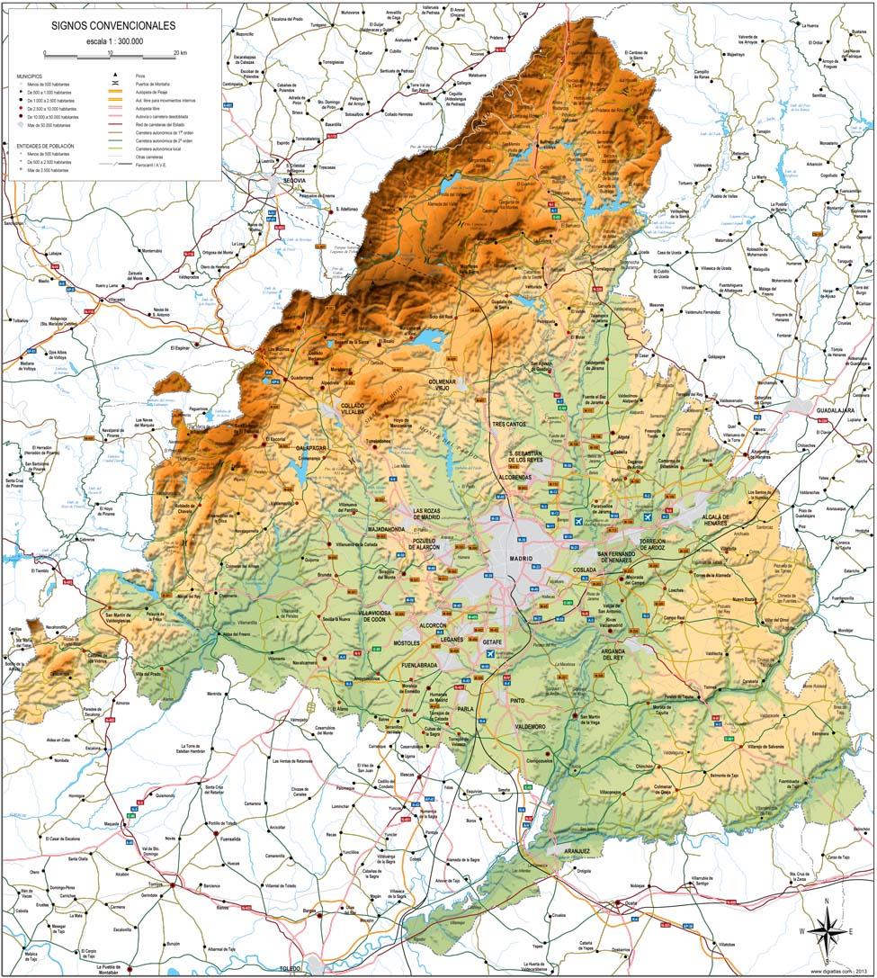 Mapa Fisico De La Comunidad De Madrid My Blog
